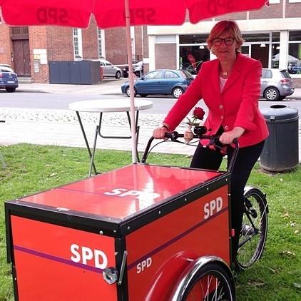 Fahrrad Rallye mit Hiltrud Lotze