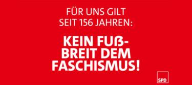 kein Fussbreit dem Faschismus in D